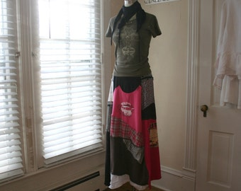 Upcycled Skirt / Altered Couture Maxi Skirt / - by Breathe-Again Clothing