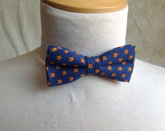 blue with yellow strars bow tie for children