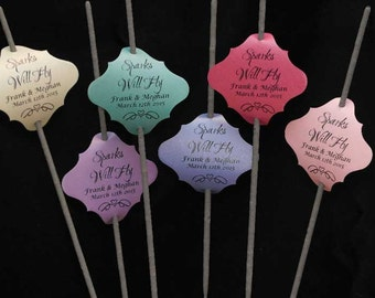 Custom Wedding Sparklers Tag - 12 to 300 Tags Per Order
