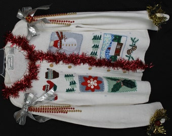 Deb Rottum's *** Tacky Ugly Chr istmas Sweater Size M ...