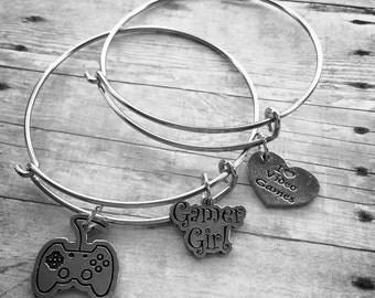 Gamer Girl Charm Bracelet Set