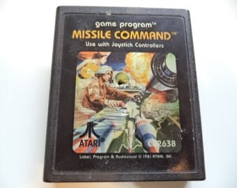 Atari 2600 Game Cartridge : Missile Command