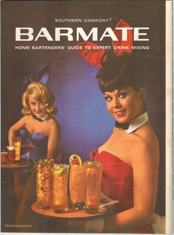 Mature Vintage Print Ad June 1965  Southern Comfort Barmate-3170