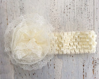Baby Girl Headband, Baby Headband, Barefoot Sandals, Elastic Flower Baby Sandals, Photo Props,