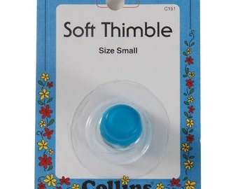 Soft Thimble by Collins ~ Size Small ~ Item # C151
