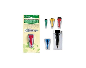 "Bias Tape Maker By Clover 1/4"" (6mm), 1/2"" (12mm), 3/4"" (18mm), 1"" (25mm) or 2"" (50mm)"