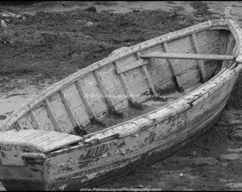 The Wooden Boat - Black and White version of an old fishing boat