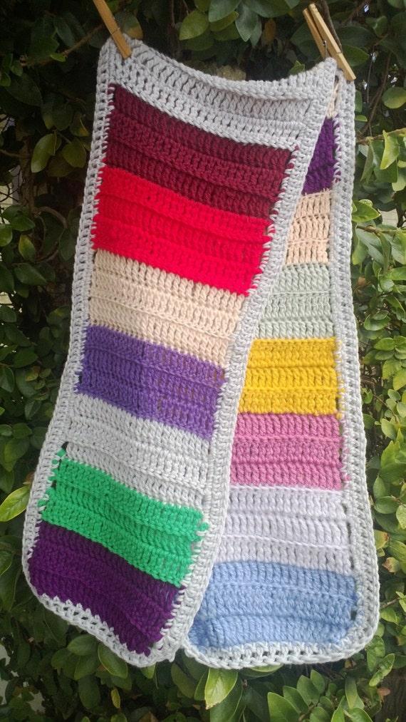 Free Crochet Patterns For Dresser Scarves : RAINBOW Crochet Dresser Scarf Table Runner Hand Crafted