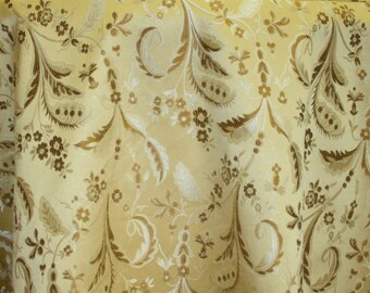 "Jacquard Floral, Fabric sold  By the Yard, 58 "" wide,  Montecarro Collection 600"