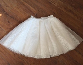 Lace Tulle Skirt Adult Women Short Skirt