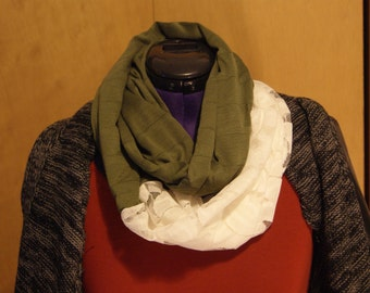 Jersey and Lace Infinity Scarf