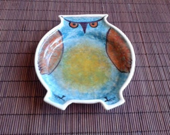 ceramic owl plate - FREE SHİPPİNG