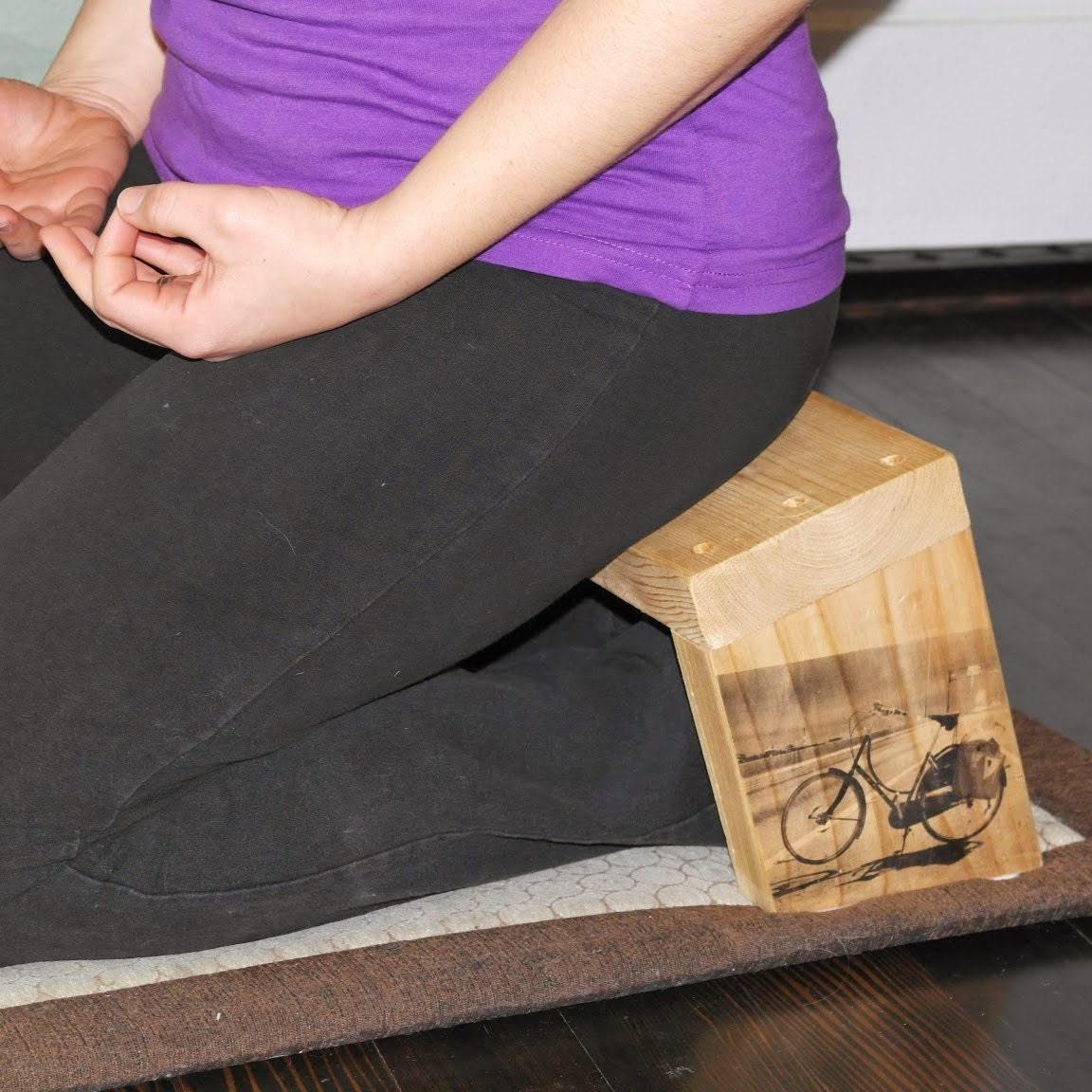 Handmade Cedar Kneeling Meditation Bench Featuring By