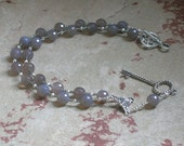 Hekate Prayer Bead Necklace in Grey Quartz:  Greek Goddess of Magic, Witchcraft, Night and the Darkness, Protection of the Home and Women