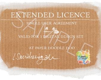 Extended Licence for 1 Digital Design Set at Paper Doodle Doo