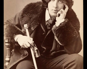 Oscar wilde poster etsy for Art and decoration oscar wilde