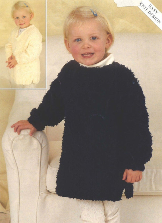 Knit Toddler Tunic Vintage Pattern 12 months to 6 years