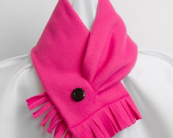Scarf Fleece Bright Pink Neckwarmer
