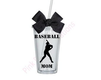 Baseball Mom Tumbler, Personalized Tumbler, Tumbler