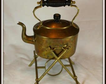 Brass Teapot With Stand
