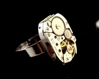 Ring watch mechanism mechanical automatic luxury watch