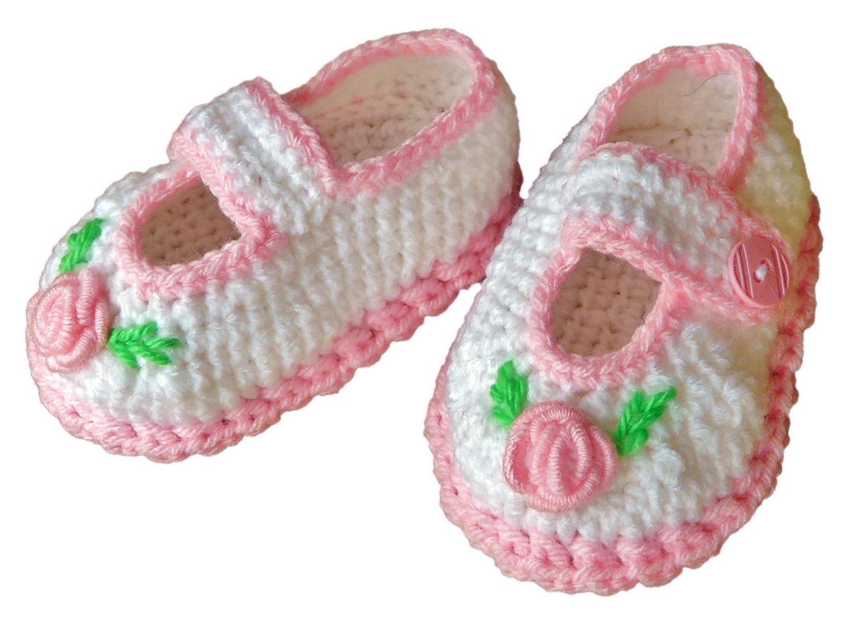 Baby Girl Crochet Shoes Girls Dressy Wedding Mary Jane Shoes