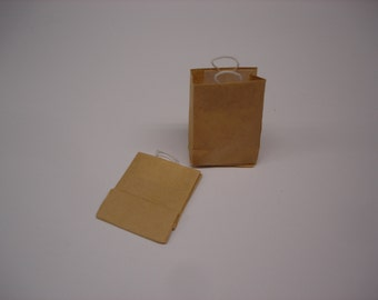 Miniature Shopping Bags with Handles Set of Two