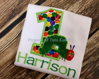 The Hungry Caterpillar Birthday Shirt FREE Personalization