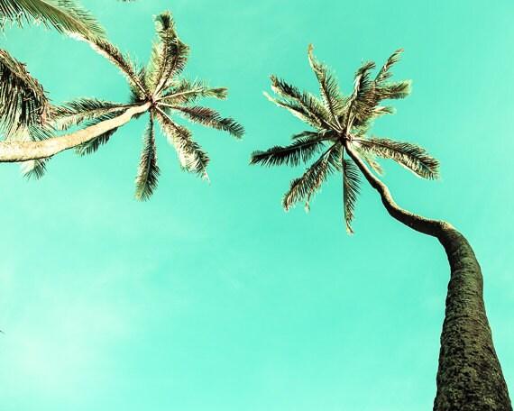 Items similar to tropical decor hawaiian decor palm for Palm tree bathroom ideas