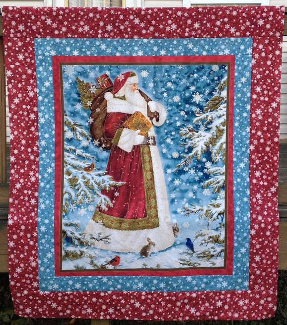 Quilt Ideas For Panels : Panel Quilt with Borders Pattern