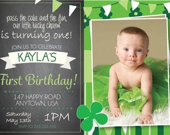 St. Patrick's Day Birthday Invitation