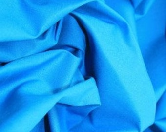 Turquoise 100% cotton fabric.