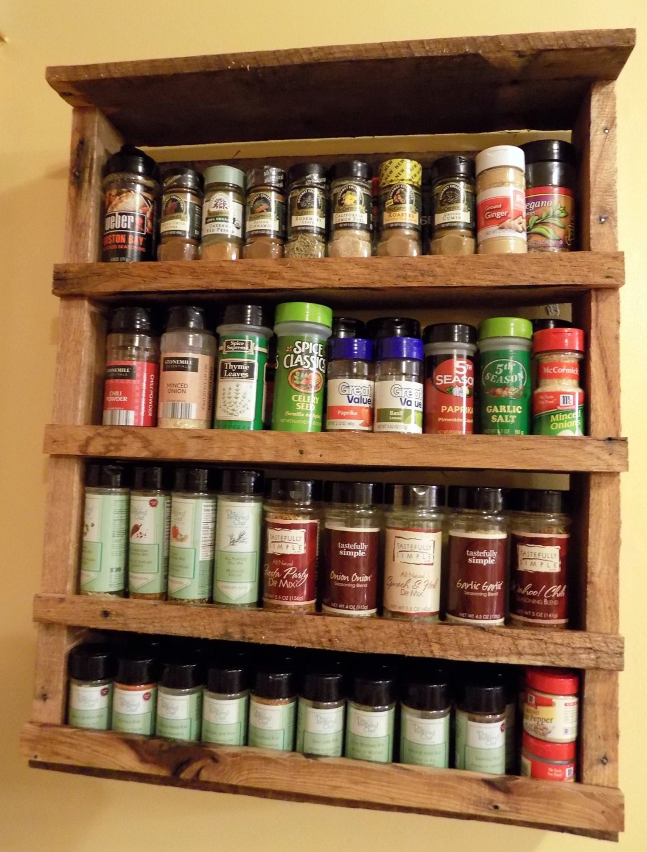 Pallet spice rack - Spice Rack Rustic Reclaimed Wood Pallet By Redbeardrustics On Etsy