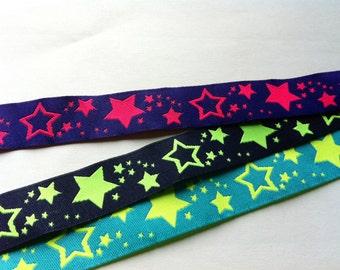 1m woven ribbon: neonstar