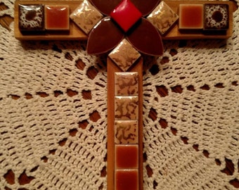 Passion play cross. Beautiful hand tiled cross.
