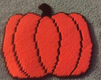 Plastic Canvas Pumpkin Magnet