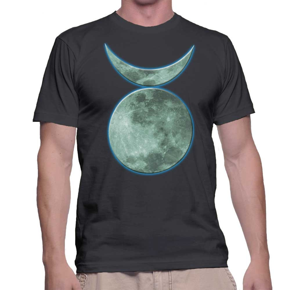 qjhngo Wicca Witch Pagan Magic Horned God of the Hunt Moon Symbol T Shirt