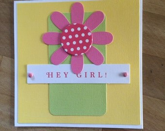 Hey Girl! Card with Envelope