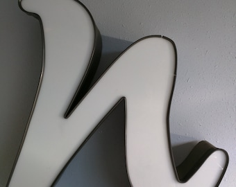 """Channel Sign Letter """"n"""" in White"""