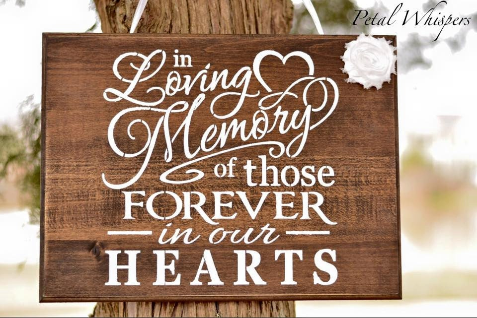 In loving memory sign wedding memorial wedding by petalwhispers for In loving memory wedding sign