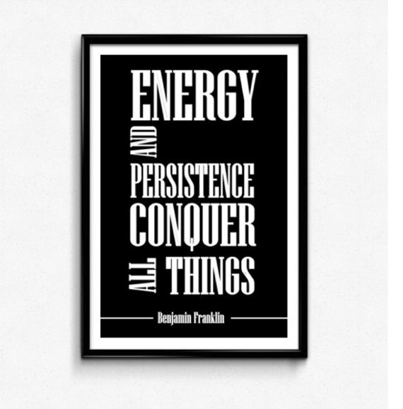 The Office Ben Franklin Quotes: Inspirational Quotes Typographic Poster By JustCoolPosters
