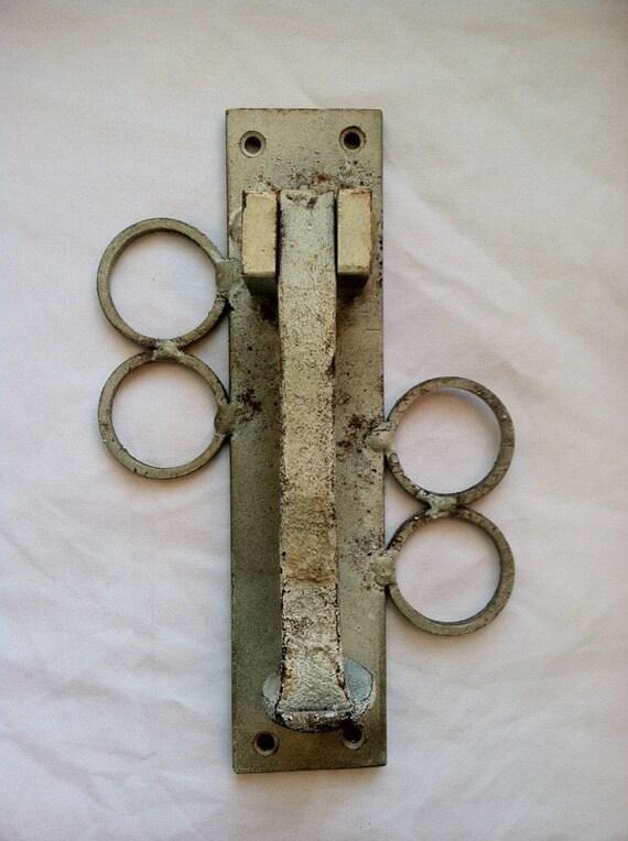 Unique Vintage Door Knocker Railroad nail/spike Door Knocker