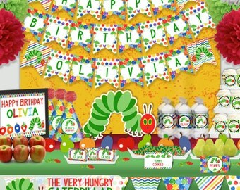 The Very Hungry Caterpillar Birthday Party Printable Party Decorations Supplies - Standard Set Party Kit PK-12