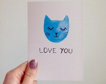 Love You Cat Card