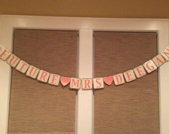 Glittery Bridal Shower Banner