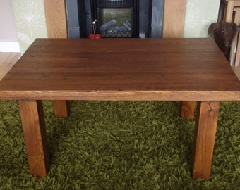 Chunky Rustic Coffee Table, Solid Wood