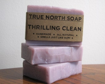 Thrilling Clean Soap - All Natural Soap, Thrills gum, Cold Processed Soap, Handmade Soap