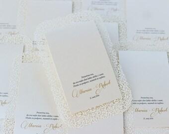 Wedding Thankyou card paper Lace + photos!Set 40 Thankyou card + 72 photos