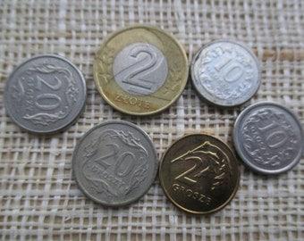 Vintage 90s - Poland - Coin - Zlote - Grosze - Set 6 pcs.