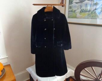 Harris Furs Borgazia Black faux fur full length coat
